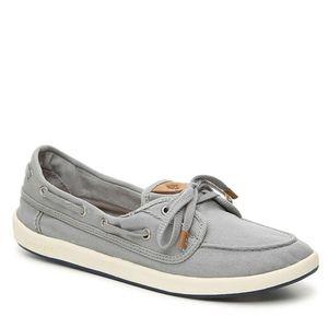 Sperry Drift Hale Canvas Light Gray Boat Shoe 9
